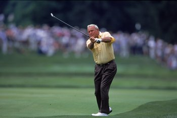 Arnold Palmer's swing certainly wasn't classic, but he made it work for him quite nicely.