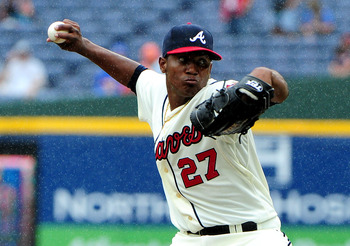 Julio Teheran will compete for the Braves' fifth starter job.