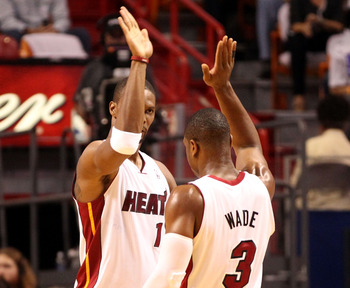 The Knicks' second and third options don't come close to Dwyane Wade and Chris Bosh.