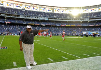 Crennel is asking: Which way is the exit to the Chiefs organization?