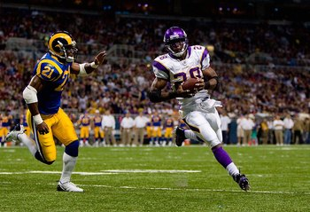 Adrian Peterson has a goal to reach 2,000 rushing yards.