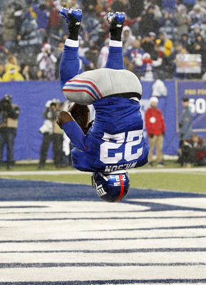 David Wilson flips after one of his touchdowns in Week 14.