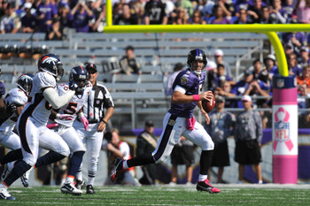Ravens will need to keep Joe Flacco away from Denver's pass rush.