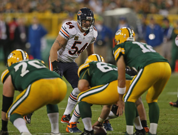 Aaron Rodgers won't have to face Brian Urlacher this time around.