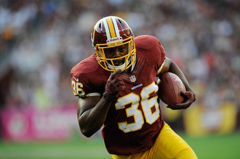 Darrel Young had two critical carries and opened holes all night for the Redskins running game.