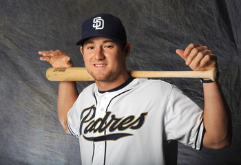 PEORIA, AZ - FEBRUARY 27:  Jason Hagerty #78 of the San Diego Padres poses for a portrait during a photo day at Peoria Stadium on February 27, 2012 in Peoria, Arizona. (Photo by Rich Pilling/Getty Images)