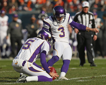 In his rookie campaign Blair Walsh has missed just three field goals (24 of 27).