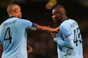 Kompany and Balotelli