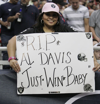Oakland upset the Texans in 2011 after the death of legendary owner Al Davis.