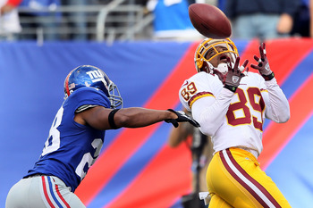 Redskins WR Santana Moss on the receiving end of another RG3 touchdown pass.