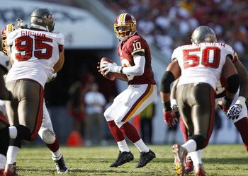 In Week Two against the Tampa Bay Buccaneers, RG3 exemplified his decision making skills.