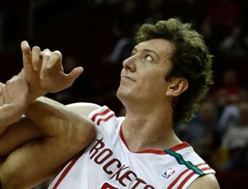 Asik nearly finished with a double-double in a short night of work.