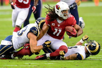 Larry Fitzgerald will be hard pressed to reach 1,000 yards this year.