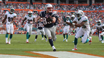 Wes Welker leads the Patriots in receiving yards again in 2012.