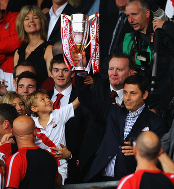 Nicola Cortese (holding the trophy) seems to have unlimited access to Markus Liebherr's estate to invest in the club.