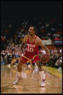 1989-1990:  John Lucas of the Houston Rockets in action with the ball. Mandatory Credit: Ken Levine  /Allsport