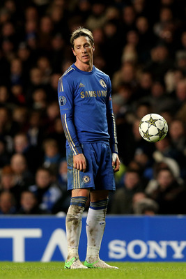 Torres failing to notice the ball right in front of him.