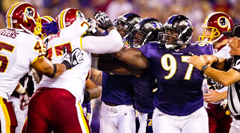 Tempers will flare in another must-win game for the Redskins. (Ravens.com)