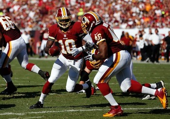 If Morris gets 20-plus carries, the Redskins are tough to beat. (J. Meric/Getty)