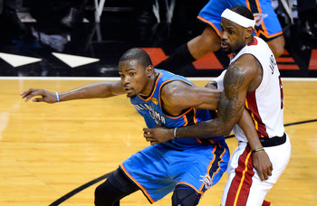 Kevin Durant wins this matchup against LeBron James.