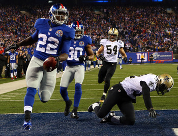 The Saints saw way too much David Wilson on Sunday night in New York.
