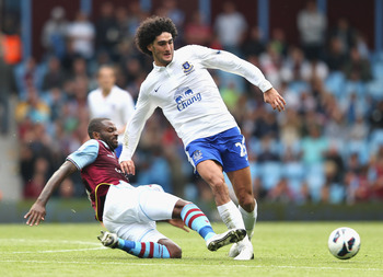 Marouane Fellaini is arguably the best box-to-box midfielder in English football.