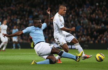 With Micah Richards potentially returning early next year, City's defence will get an added boost.