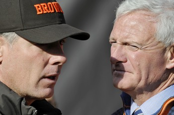 Head coach Pat Shurmur and Browns owner Jimmy Haslam III