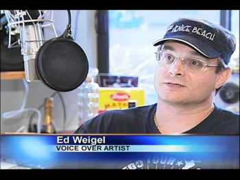 Ed Weigel does much of the voice over work for WWE
