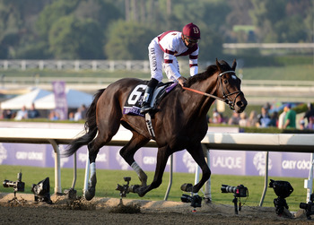Royal Delta defended her title by wiring the field in the Breeders' Cup Ladies' Classic.
