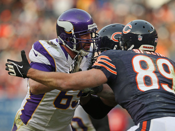 Jared Allen had zero sacks vs. the Bears in their first meeting. Minnesota needs him to get after Jay Cutler to have success.