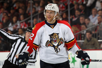 Kris Versteeg of the Florida Panthers.