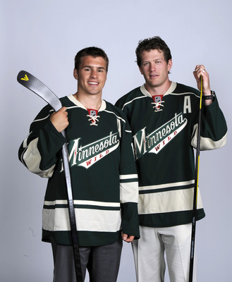 Zach Parise (left) and Ryan Suter of the Minnesota Wild.