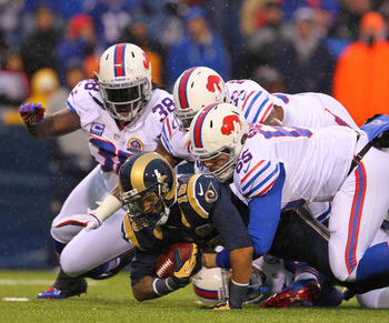 Bills defense was swarming all over the Rams today.