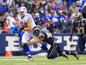 Scott Chandler and Steve Johnson each had 71 yards in receptions.