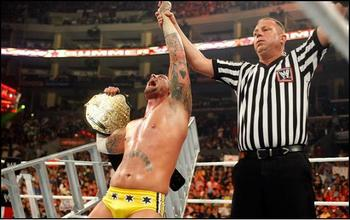 Punk after a win against Jeff Hardy (Photo Credit: WrestlingValley.org)