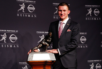 2012 Heisman Trophy Winner Johnny Manziel