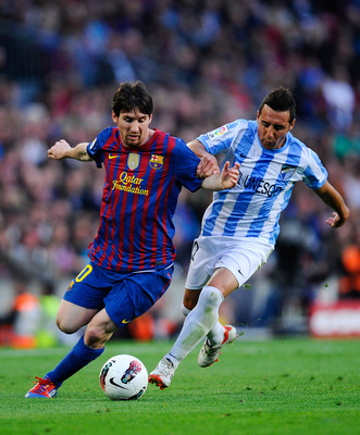 Santi Cazorla, now of Arsenal, in action for Malaga last season