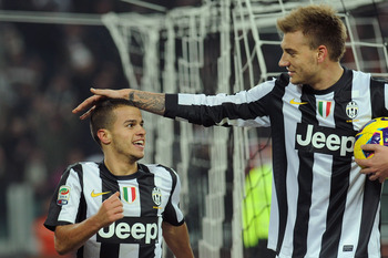 Arsenal old-boy Nicklas Bendtner in Juve action