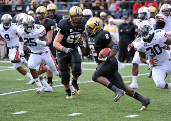 Zac Stacy led the Commodores with 1,034 rushing yards.