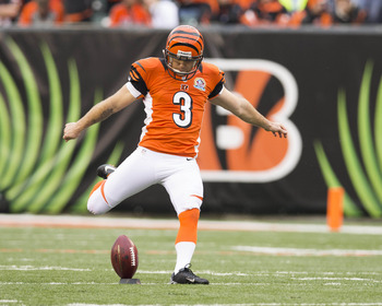 Josh Brown was easily the Bengals MVP today as he connected on four field goals while filling in for the injured Mike Nugent