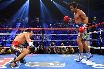 Pacquiao looked ready to take over the fight when a bolt from the blue ended his night.