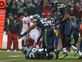 Seattle's Bobby Wagner intercepted two passes in Week 14.