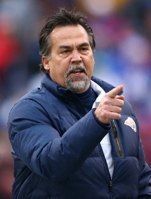 Jeff Fisher now has the Rams at .500 with a 6-6-1 record.
