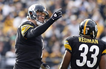 Even Big Ben probably thought Redman on 4th down was a bad idea.