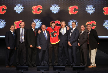 The Calgary Flames at the 2012 NHl Draft.