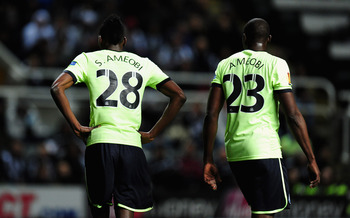 Shola Ameobi (23) failed to provide the spark required to ignite the Newcastle attack.