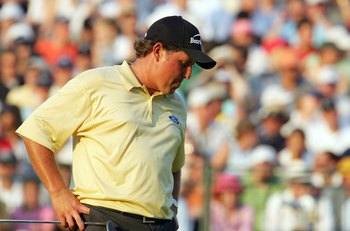 That look sums it up after Phil Mickelson blew a chance to win the U.S. Open.