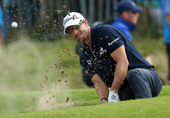 Just one of the trouble spots Adam Scott found in the last four holes of the Open Championship.