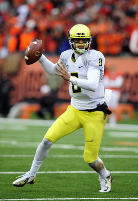 Mariota had 34 total TDs as a freshman for the Ducks.